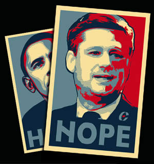 Harper and Obama Image