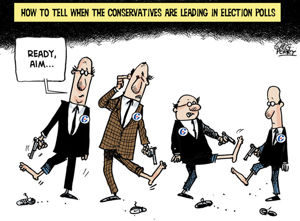 Cartoon about 2011 federal election