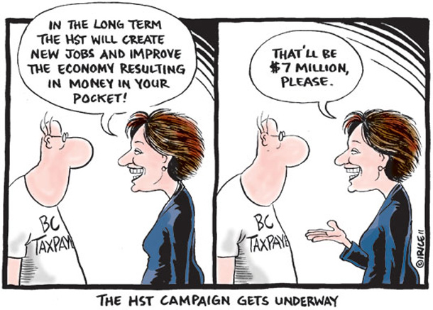 Cartoon about the HST campaign