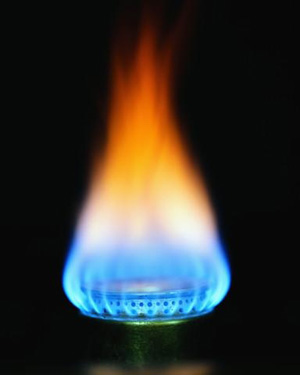 Natural gas flame