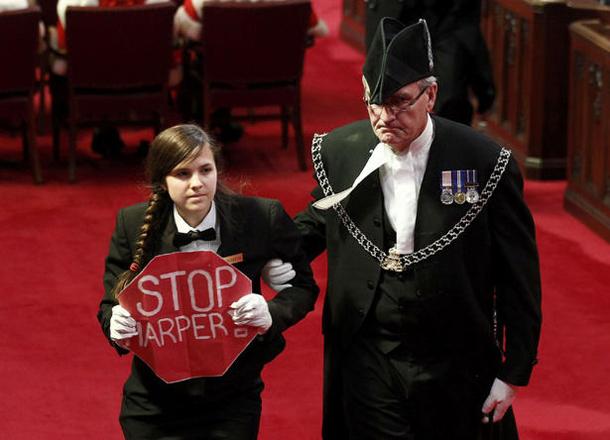 Harper protestor Brigette DePape