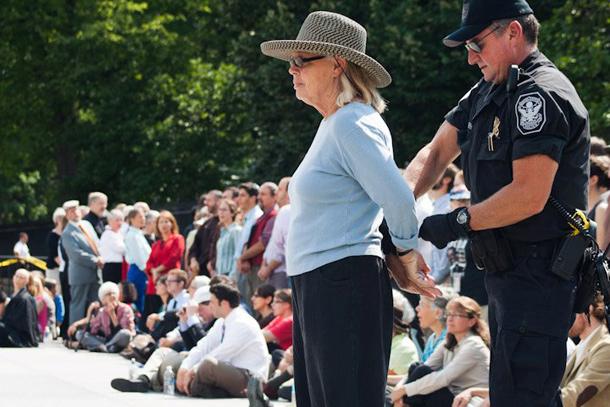 Keystone XL protest in Washington, DC