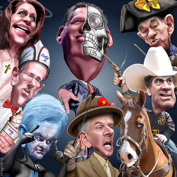 Caricature of 2012 GOP candidates