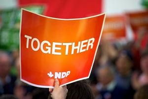 NDP together sign