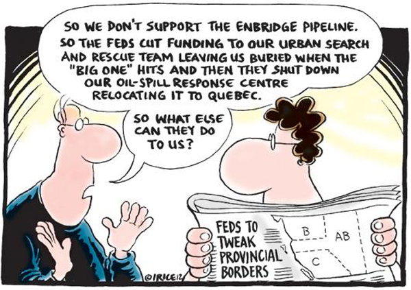 Ingrid Rice cartoon on Enbridge pipeline