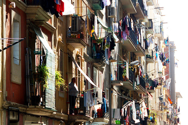 Clotheslines in Barcelona