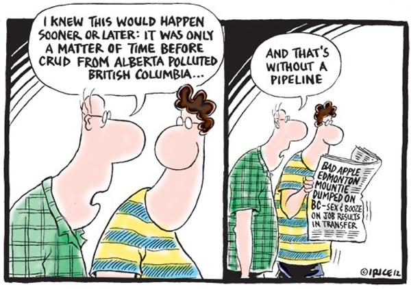 Alberta polluting BC cartoon