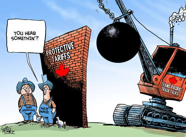 Cartoon on the TPP talks