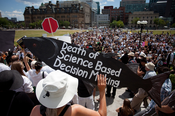 582px version of Death of Evidence rally in Ottawa