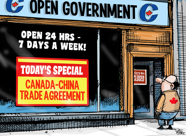 Canada China FIPA cartoon