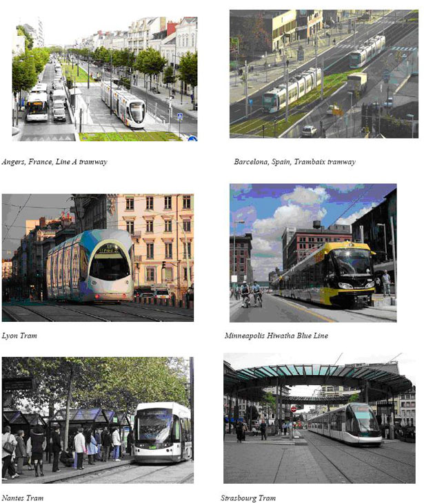 Light rail in other cities