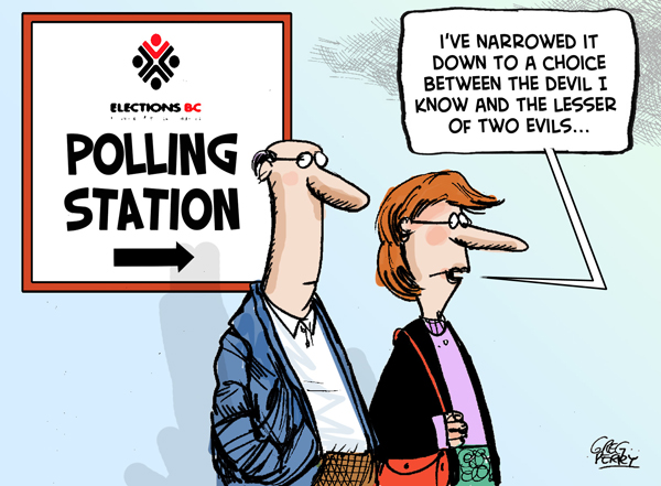 Cartoon about the BC election