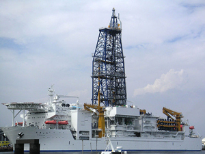 Japan's deep-sea drilling vessel, the 'Chikyu'