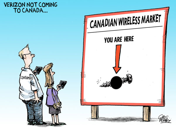 Cartoon about Verizon