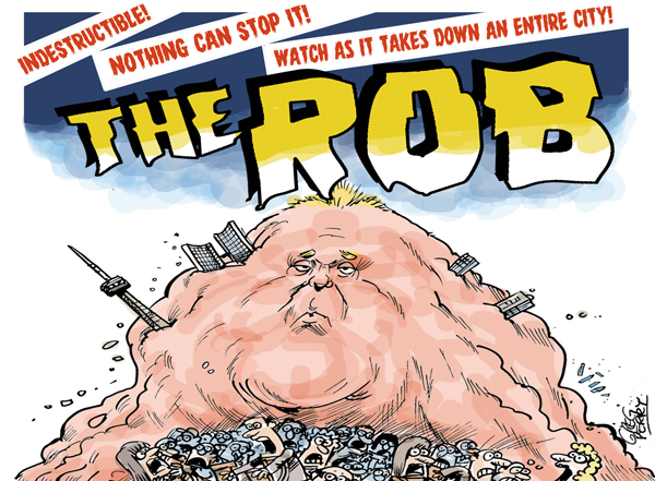 Rob Ford Toon Cartoon By Greg Perry