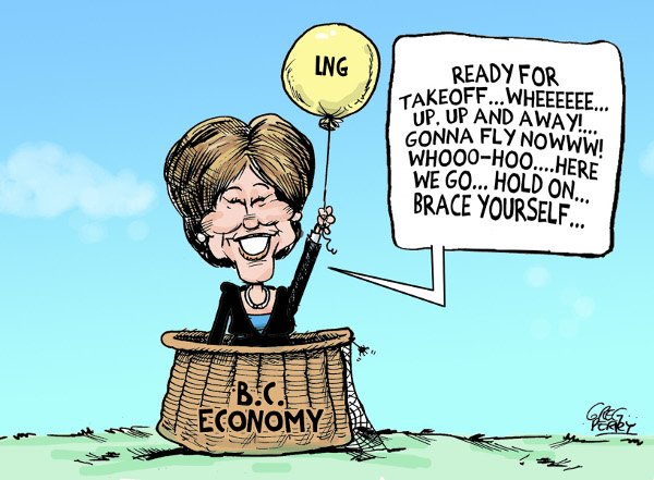Christy Clark budget cartoon