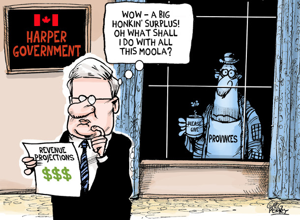 Harper cartoon by Greg Perry
