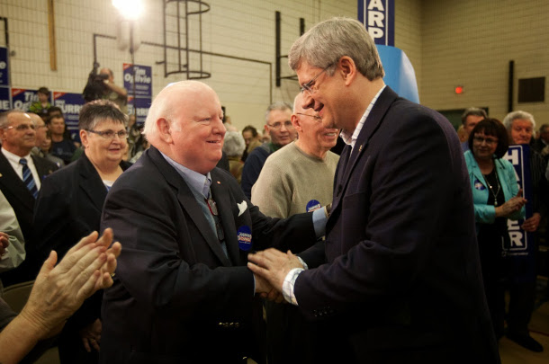 Mike Duffy and Stephen Harper