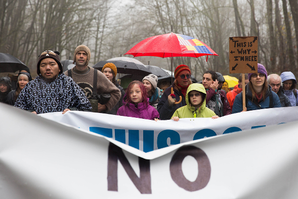Burnaby Mountain protest