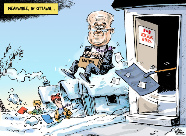 Cartoon about Julian Fantino's firing