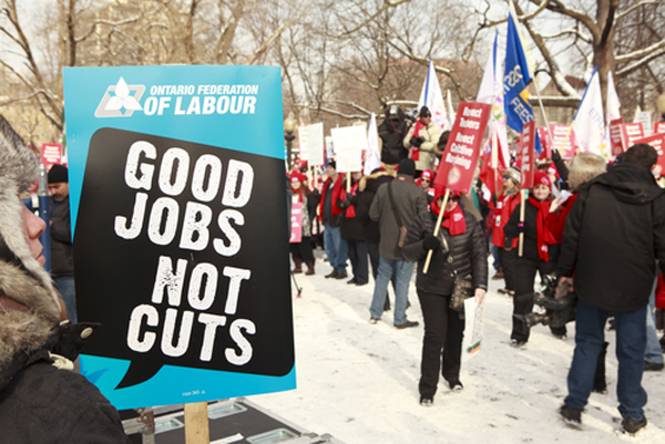 Ontario labour protest
