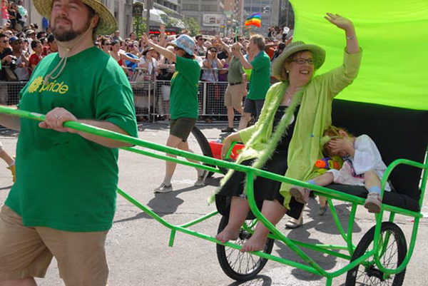 Elizabeth May at Pride 2011