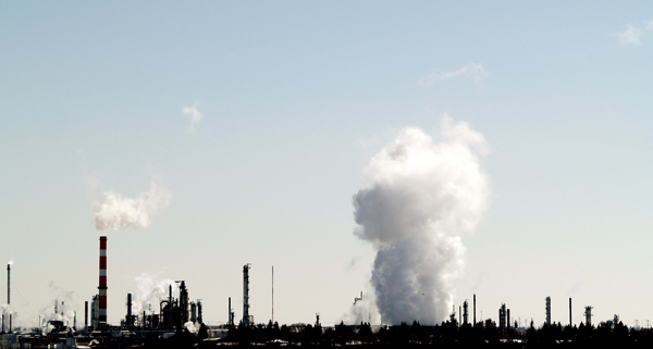 Petrochemical factory in Alberta