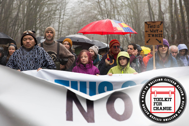 Protesters against the Trans Mountain pipeline