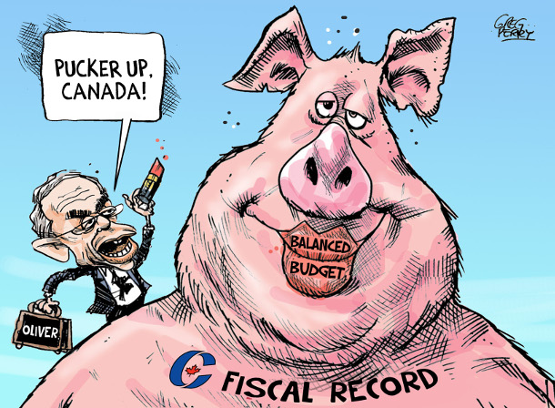 Cartoon about the 2015 federal budget
