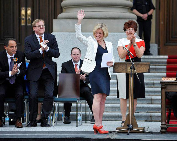 Alberta Premier Rachel Notley sworn in