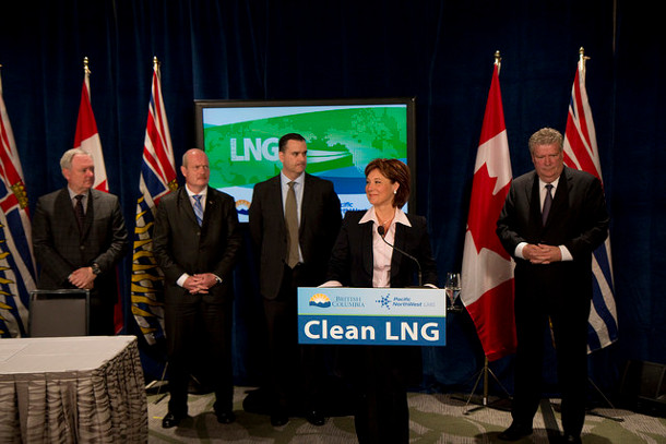 Christy Clark LNG announcement