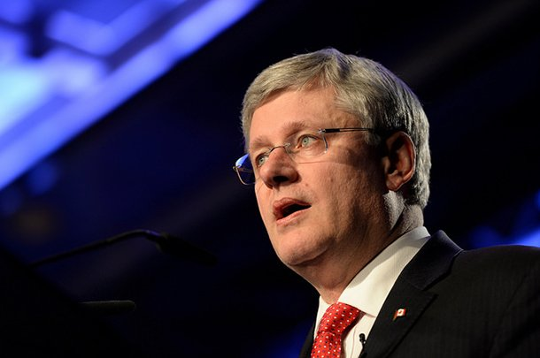 Stephen Harper speaking