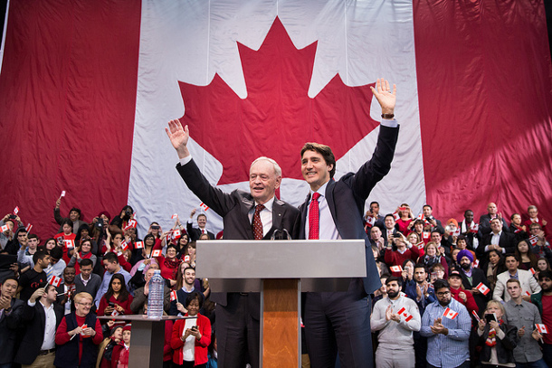 Justin Trudeau and Jean Chretien