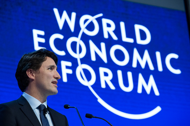 Justin Trudeau at the World Economic Forum