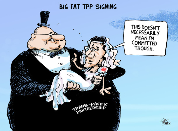 TPP cartoon by Greg Perry
