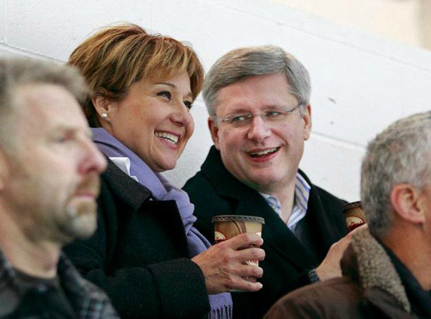 Christy Clark and Stephen Harper
