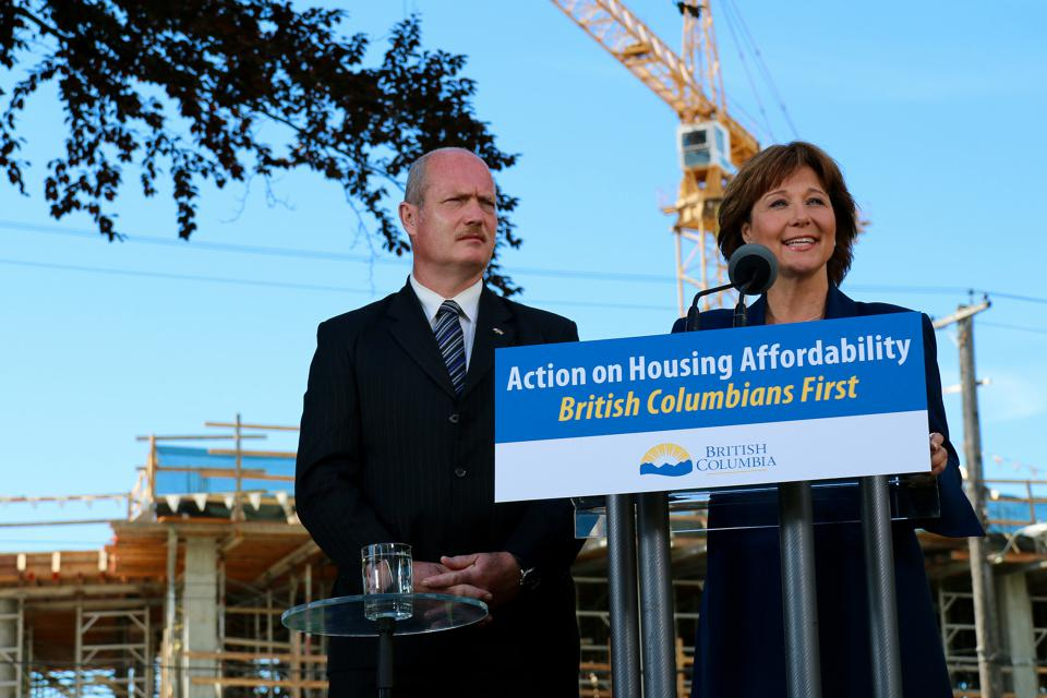 960px version of Christy Clark housing affordability announcement
