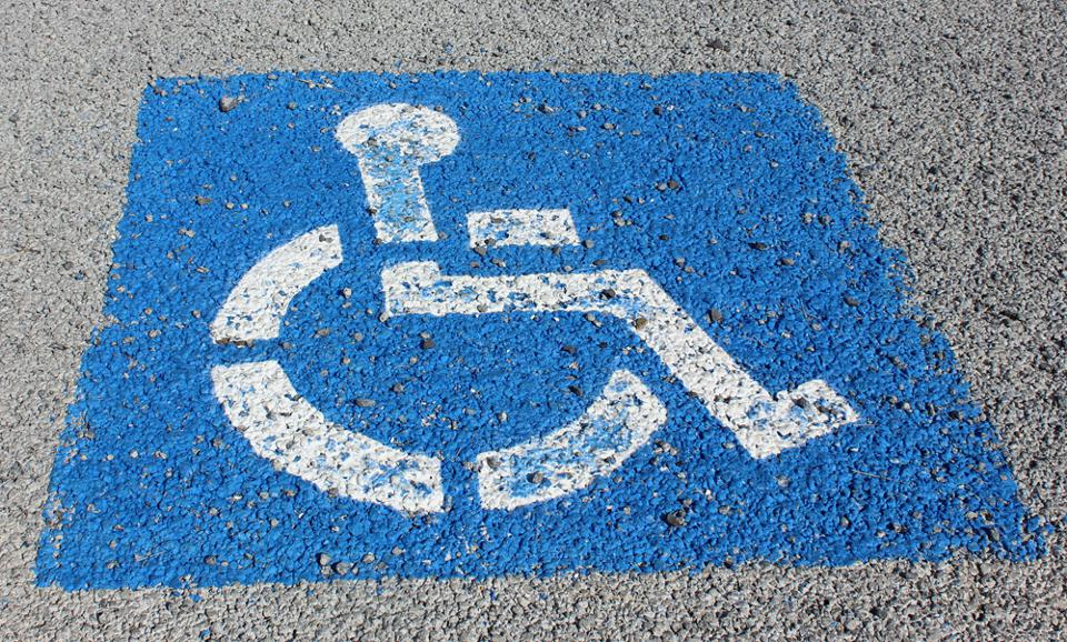 960px version of Disabled parking spot