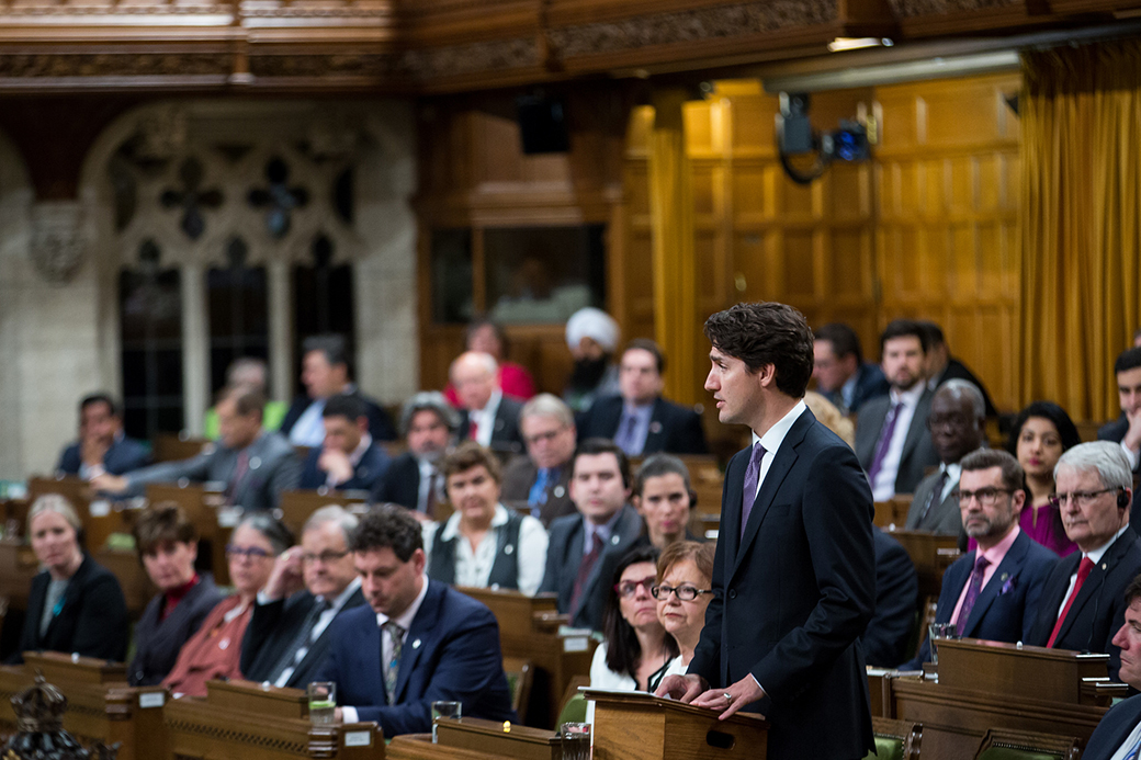 Justin Trudeau in the House of Commons