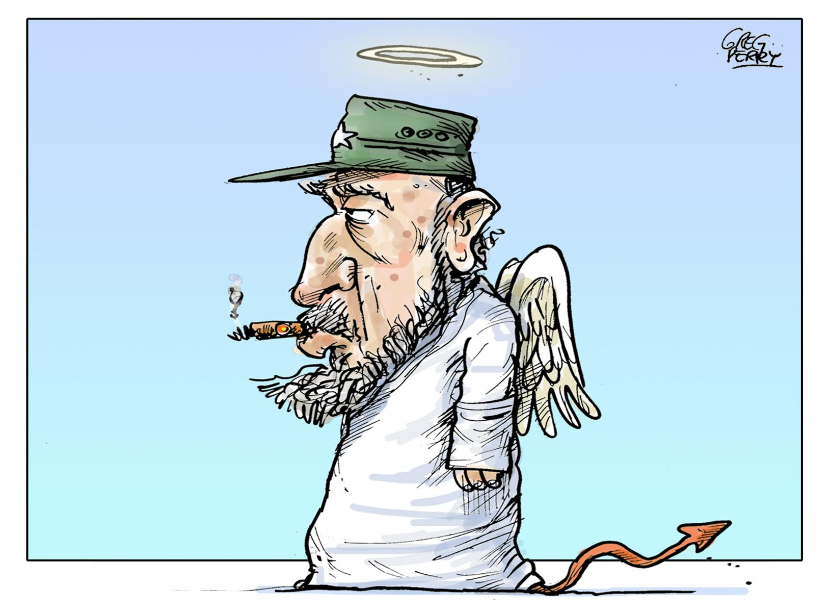 Castro cartoon by Greg Perry