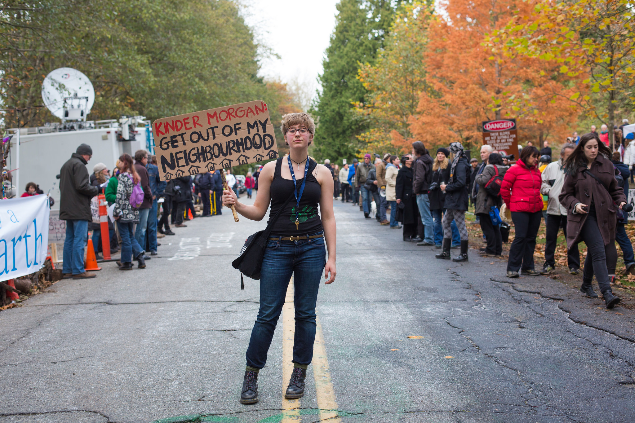 Kinder Morgan protester