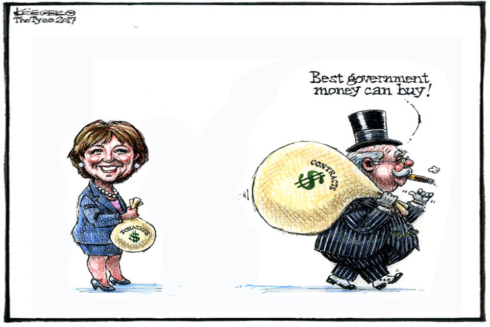 'Best government money can buy' cartoon