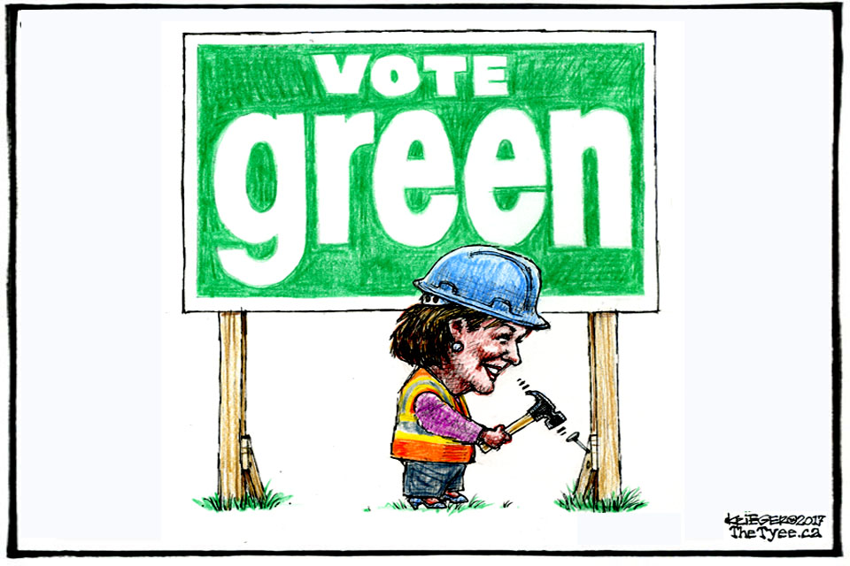 Vote Green cartoon