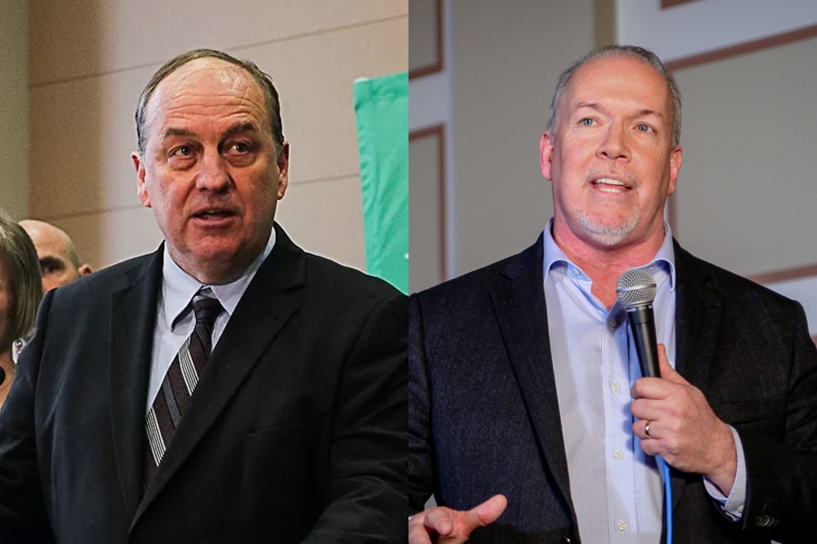 Andrew Weaver and John Horgan