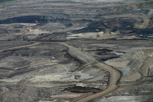 Small aerial of Alberta's oil sands
