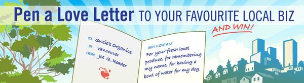 Local biz love letter contest