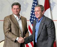 Stephen Harper & George W. Bush