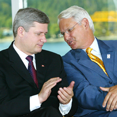 Stephen Harper and Gordon Campbell