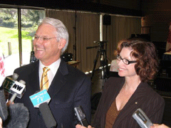 Gordon Campbell and Carole Taylor