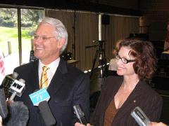 Gordon Campbell and Carole Taylor